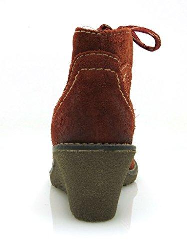 Marco Tozzi Botas De Cuña De Tobillo Botines De Cordones Botines Cuñas 6201 Mujer cobre