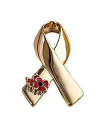 Poppy Pins Unisex Ribbon Collar Brooch Set Flower Lapel Pins Cancer Awareness Corsage