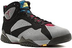 44bb1fd21b5ccd Jordan Nike Mens Air 7 Retro Black Light Graphite-Bordeaux Leather  Basketball …