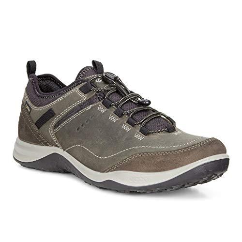 ECCO Men's Esphino GORE-TEX waterproof Hiking shoe, Tarmac/Tarmac, 43 EU / 9-9.5 US (Best Men's Walking Shoes For Europe)