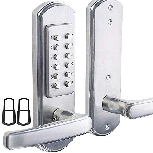 Bravex Left Keyless Entry Door Lock Keypad,Not Deadbolt,Only for Single Borehole Door,Borehole Smaller Than Dia.2-1/8