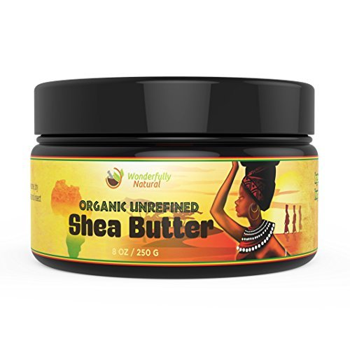 Price comparison product image Unrefined Shea Butter - African Organic Ivory & Raw – Use Alone or In DIY Cream, Soap & More! - Vitamins Rich, Natural Healing for Eczema, Stretch Mark, Moisturizing Dry Skin & Hair Care 8 OZ