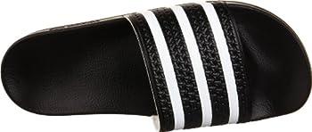 Adidas Originals Men's Adilette Slide Sandal,blackwhiteblack,7 M Us 7
