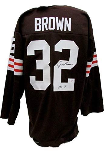 - Signed Jim Brown Jersey - HOF 71 AB71811 - PSA/DNA Certified - Autographed NFL Jerseys