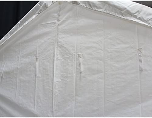 King Canopy White Side Wall Kit with Flaps, 10 x 20