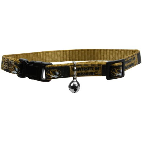 Pet Goods Manufacturing NCAA Missouri Tigers Cat Collar, 3 8 x 8-12