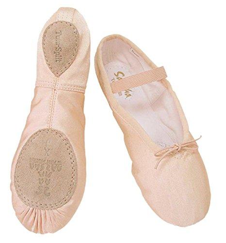 (Sansha Tutu-Split Satin Ballet Slipper, Peach Pink (IM (US Teen 2.5-3)))