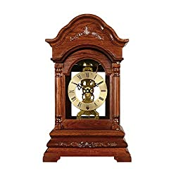 Desk Clock Table Mechanical Pure Copper Movement White Rosewood Solid Wood Decoration Nordic Retro Living