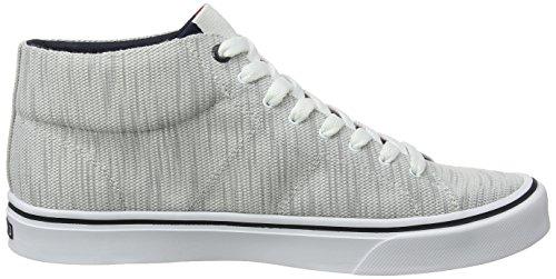 001 Grigio Ginnastica Mid Hilfiger Cut da Sneaker Lightweight Basse Scarpe Tommy Uomo Knit Diamond Grey wBq6pxnP