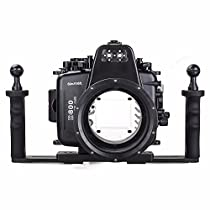 EACHSHOT 60m/195ft Waterproof for Nikon D800 Underwater Camera Housing Case Diving Equipment + Two Hands Aluminium Tray