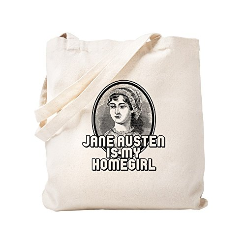 CafePress Jane Austen Natural Canvas Tote Bag, Cloth Shopping Bag