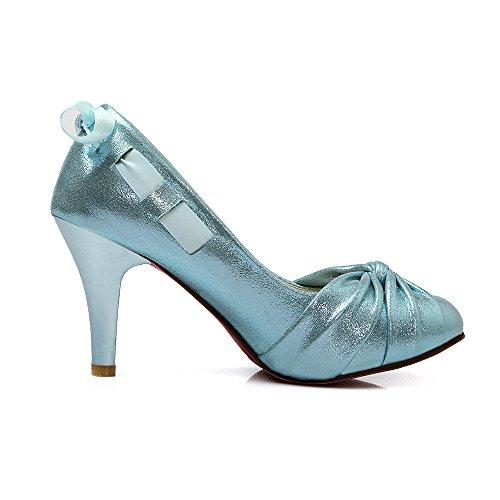 Donne YCMDM di New Shoes bocca poco profonda singoli pattini di moda cantieri di grandi dimensioni , blue , 36