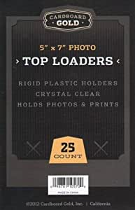 "Cardboard Gold Top Loader (5"" x 7"") - Pack of 25 - Next Generation Archival Protection"