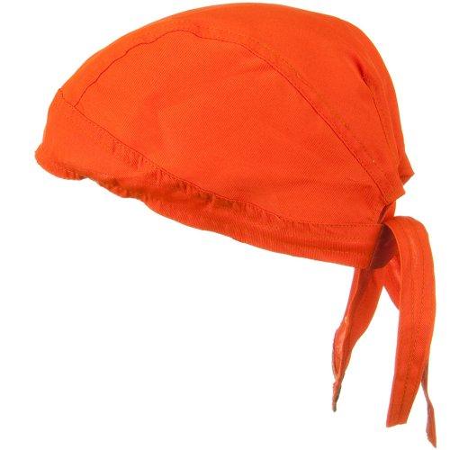 Solid Color Series Head Wraps - High Visibility Orange OSFM