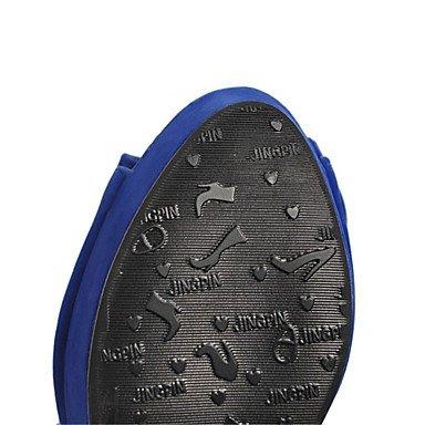 LvYuan Tacón Robusto-Innovador Confort-Sandalias-Informal Fiesta y Noche Vestido-Semicuero Materiales Personalizados-Negro Azul Rojo Beige beige