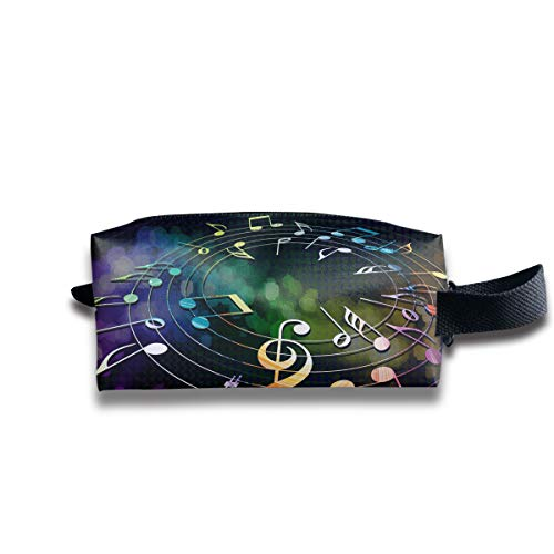 Makeup Cosmetic Bag Music Notes Cool Background Medicine Bag Zip Travel Portable Storage Pouch for Mens - Winery Notes
