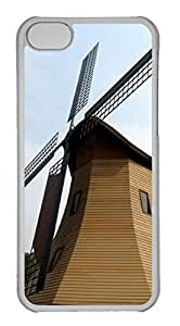 Customized iphone 5C PC Transparent Case - Windmill Cover