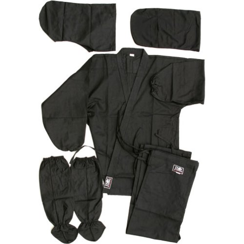 Real Ninja Gear (Piranha Gear Ninja Uniform - Black, 4)