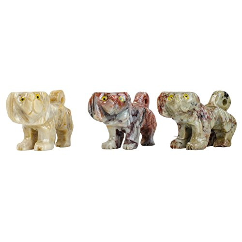 Digging Dolls : 10 pcs Artisan Dog Collectable Animal Figurine - Style 1 - Party Favors, Stocking Stuffers, Gifts, Collecting and More! by Digging Dolls