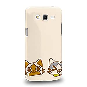 Case88 Premium Designs Monster Hunter Poka Poka Airou Giri-AiruG Pugi 1143 Carcasa/Funda dura para el Samsung Galaxy Grand 2