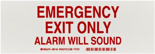 Brady White Door Legend Emergency
