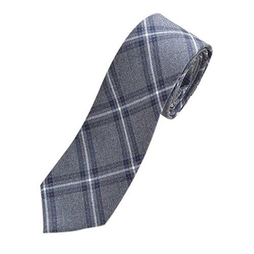 Plaid de Tie Uniforme Hombre Para Cosplay Oscuro Adolescente Ai Joven moichien Gris Awxq5w84H