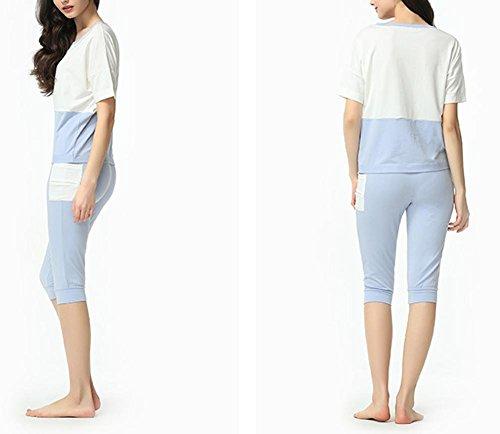 da blue e pigiama morbido da notte donna per Abbigliamento notte anRdz4ax