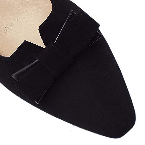 Calzature nera Saris pelle Peter ampie Kaiser nera scamosciata con scamosciato in 1wqqSAEn