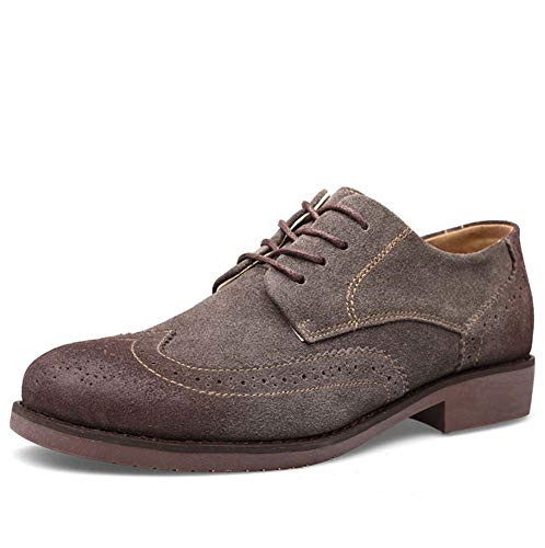- HYLFF Men Handmade Goodyear Welted Slip-on Penny Loafer Suede Shoes, Business Casual Attire Oxford Shoes Black,Brown,Brown,44EU