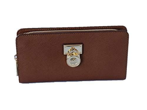 43db6bc4d5fbe1 Michael Kors Hamilton Traveler Saffiano Leather Large Zip Around Wallet -  Luggage by Michael Kors