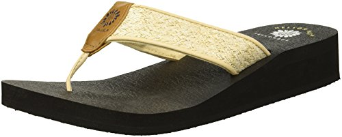 (Yellow Box Women's Sierra Sandal, Natural, 6.5 M US)
