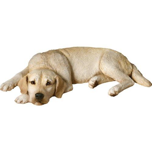 Sandicast Original Size Yellow Labrador Retriever Sculpture, Lying Flat