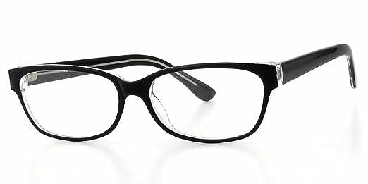 Amazon.com: Soho 1009 in Black Crystal Designer Reading Glass Frames ...