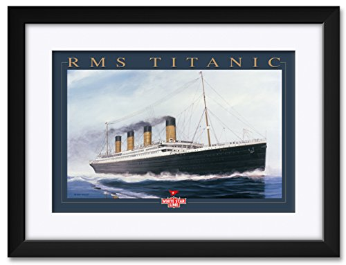 Titanic Gold LTR Framed & Matted Art Print by Richard DeRosset. Print Size: 12