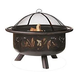 36 in fire pit with swirl design made with for Amazon prime fire pit