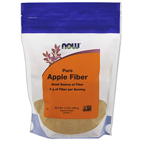 NOW Apple Fiber Powder, 12-Ounce (Pack of 4)