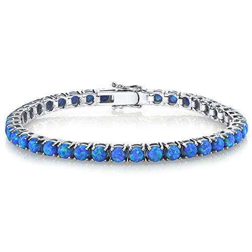 Sterling Silver 925 Blue...