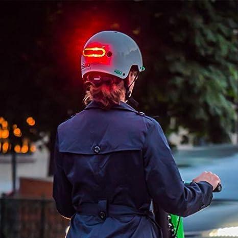 Feu arrière de casque COSMO BIKE noir avec télécommande vélo visibilité NEUF