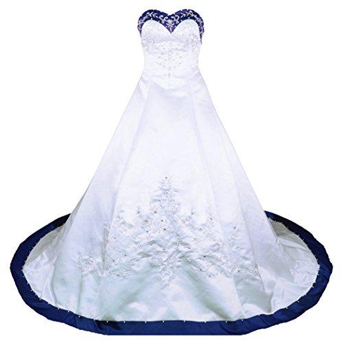 White and Blue Wedding Dress: Amazon.com