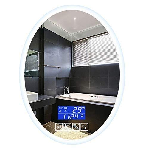 Beauty mirror LED Bathroom Mirror,Illuminated Wall-Mounted Oval Vanity Mirror With Lights Touch - Bluetooth Demister Mirrors Bathroom Led And With