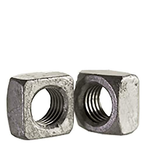 1 1/8''-7 Square Nuts Grade 2 Steel/Hot Dip Galvanized (Quantity: 75)
