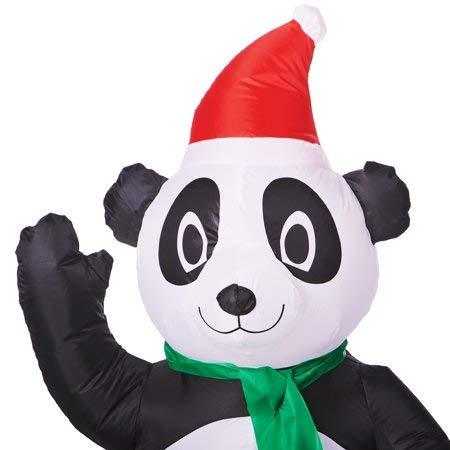 Amazon.com: Panda de Navidad inflable para decoración de ...