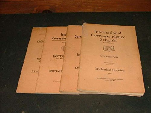 4 International Correspondence Schools Instruction Papers 1915-17
