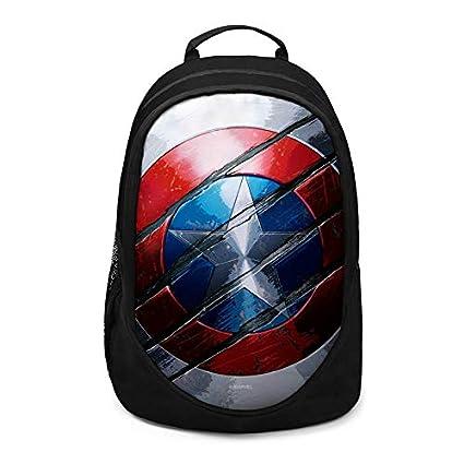 Captain America Shield style sac à dos Student Book épaule sac d/'école Unisexe