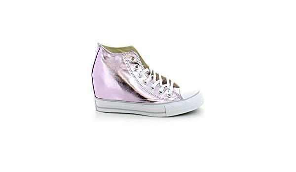Converse Womens Chuck Taylor Lux Wedge Sneaker Metallic (7 B
