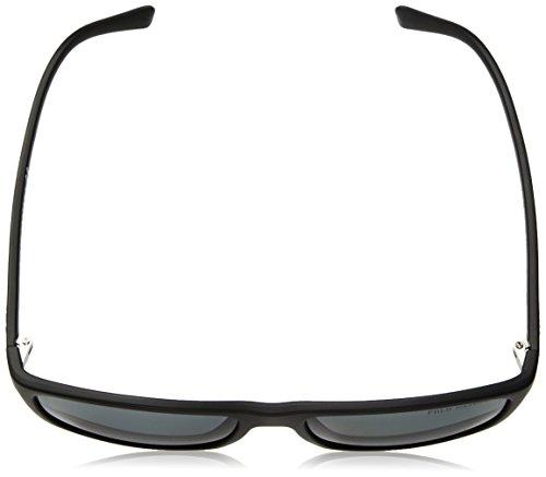 Polo Ralph Lauren lunettes de soleil classique rectangle en noir mat polarisé PH4115 560881 57 Grey Polarised