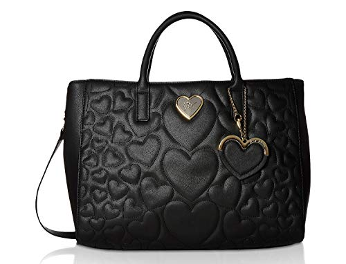 - Betsey Johnson Women's Structured Quilt Satchel Black One Size
