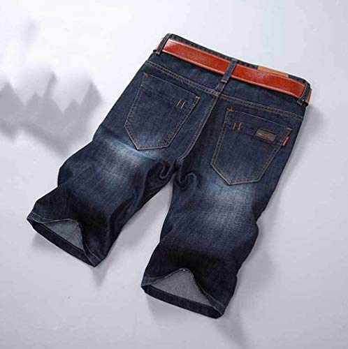 Algodón Pantalones del Hombres Cortos Pantalones Dunkelblau del del De Vaqueros Recto Dril Vaqueros Algodón Rectos Pantalones De De Joven Pierna La Yasminey De Cortos Los Los Pantalones De Dril Bermudas Corte aqwOO8