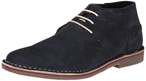 Chukka Leather Boat (Kenneth Cole Unlisted Men's Real Estate Chukka Boat, Navy, 12 M US)
