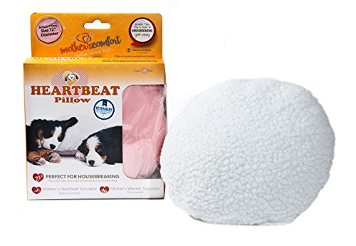 PetZu Mother's Comfort Heartbeat Pet Pillow, Pink/White by PetZu